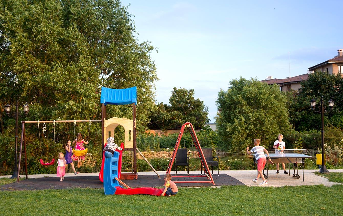 Playing at SunSet playground